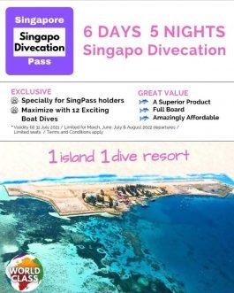6D5N Singapo Divecation – Layang-Layang, Sabah